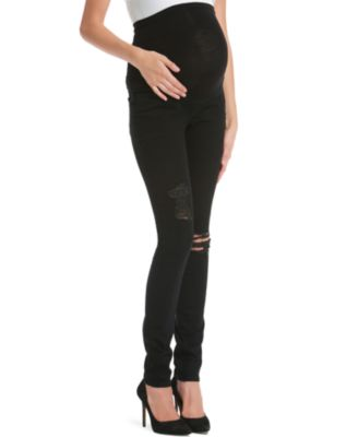 Jessica Simpson Distressed Maternity Skinny Jeans, Black Wash ...
