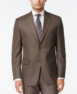 IZOD Brown Sharkskin Classic-Fit Suit - Suits & Suit Separates ...