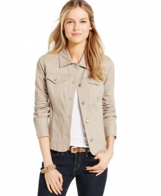 Charter Club Colored Denim Jacket - Jackets - Women - Macy's