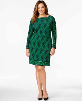 Plus Size Green Dress With Sleeves