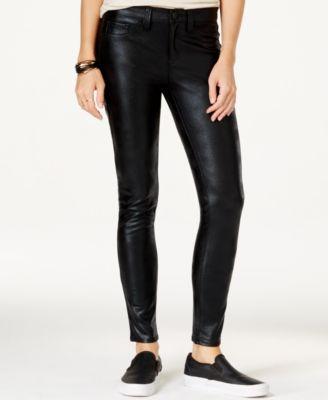 Tinseltown Juniors' Faux-Leather Slim Pants - Leggings & Pants ...