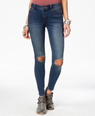 Free People Ripped Skinny Jeans, Patsy Wash - Jeans - Women - Macy's