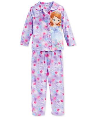 Disney Princess Toddler Girls' 2-Piece Button-Down Pajamas ...
