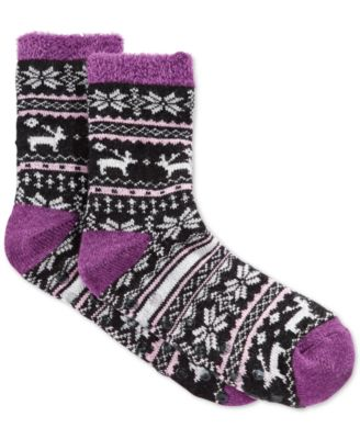 Charter Club Women's Moose Fair Isle Socks, Only at Macy's ...