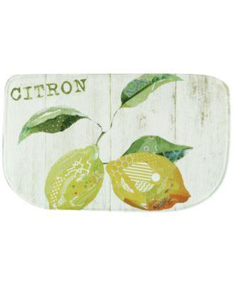 """Bacova Kitchen, Citron 18"""" x 30"""" Rug"""