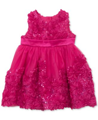 Rare Editions Baby Girls' Fuchsia Flower Dress - Dresses - Kids ...