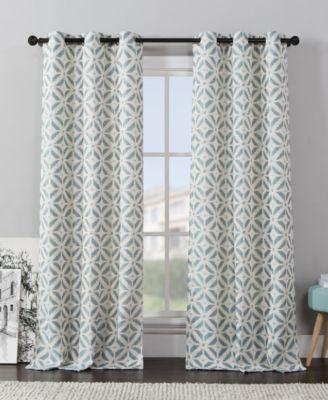 victoria classics pair of dalton ikat 76'' x 84'' curtain panels