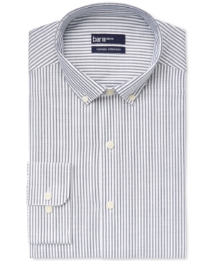 Bar Iii Carnaby Collection Slim-Fit Navy Bengal Stripe Dress Shirt Only at Macys $34.99 AT vintagedancer.com