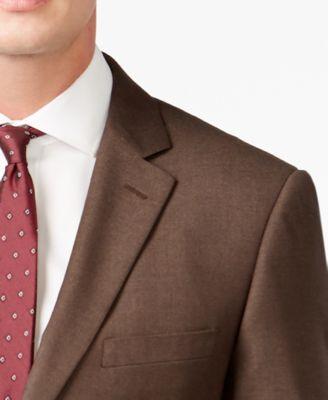 Perry Ellis Slim-Fit Brown Sharkskin Suit - Suits & Suit Separates ...