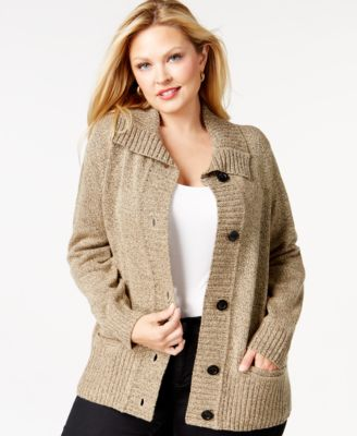 Karen Scott Plus Size Sweater Cardigan, Only at Macy's - Sweaters ...