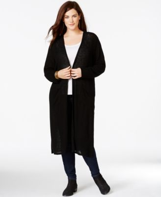 ING Plus Size Duster Cardigan - Tops - Plus Sizes - Macy's