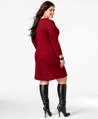 Knitted dress plus size