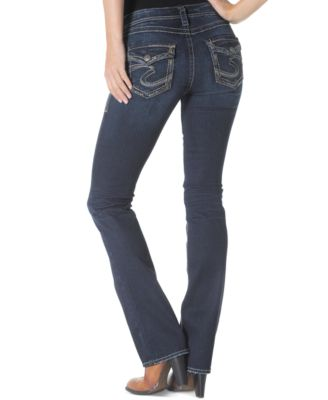 Silver Jeans Aiko Slim Bootcut Jeans, Dark Blue Wash - Jeans ...
