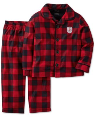 Carter's Boys' 2-Piece Plaid Button-Down Pajamas - Kids & Baby ...