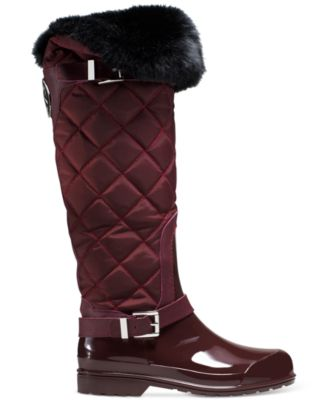 MICHAEL Michael Kors Fulton Quilted Rain Boots - Boots - Shoes ... : quilted rainboots - Adamdwight.com