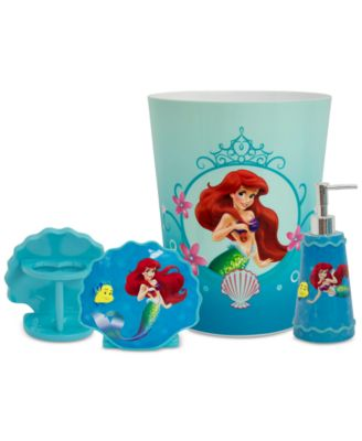Little Mermaid Bath Accessories Collection