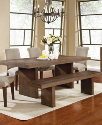 Madina 6 Pc Dining Set Table 4 Chairs And Bench