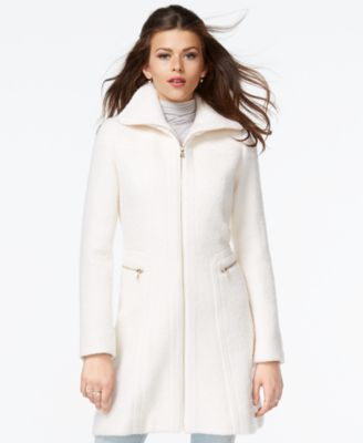 Kenneth Cole Zip-Cuff Wool Walker Coat - Coats - Women - Macy's