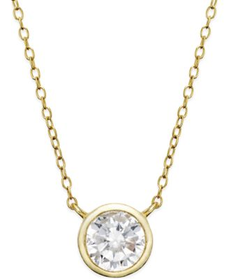 Giani bernini cubic zirconia solitaire bezel pendant necklace in giani bernini cubic zirconia solitaire bezel pendant necklace in 18k gold over sterling silver or sterling aloadofball Image collections