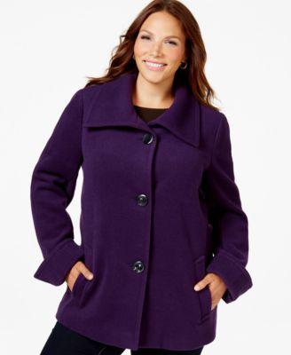 calvin klein plus size faux-suede-front knit jacket - coats - plus