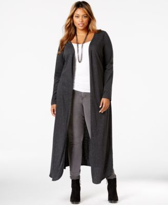 Harper and Liv Plus Size Marled Duster Cardigan - Sweaters - Plus ...