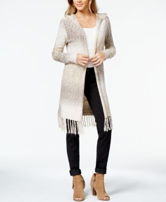 American Rag Fringed Ombre Duster Sweater, Only at Macy's ...
