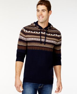 Buffalo David Bitton Wilsem Fair Isle Hoodie - Sweaters - Men - Macy's