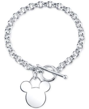 Disney Mickey Mouse Charm Bracelet in Sterling Silver, Only at Macy's