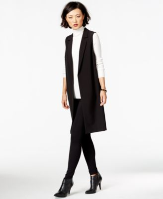 Bar Iii Long Open Front Crepe Vest Only At Macy S
