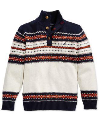 Nautica Boys' Quarter-Zip Striped Sweater - Kids & Baby - Macy's