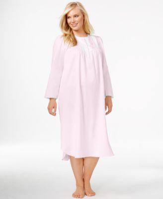 Miss Elaine Plus Size Satin Nightgown - Bras, Panties & Shapewear ...
