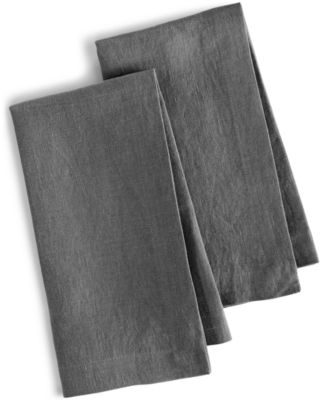 Hotel Collection Linen 2-Pc. Modern Gray Napkins, Only at Macy's