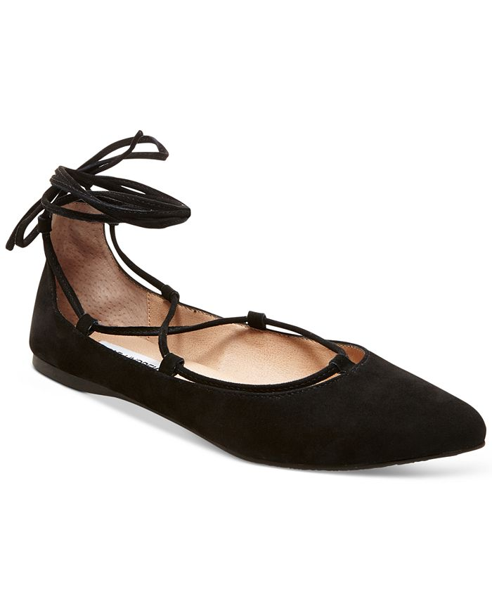 Steve Madden - Eleanorr Suede Lace-Up Flats