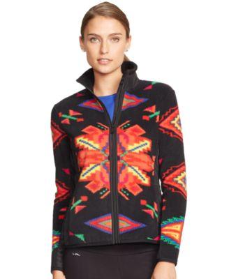 Lauren Ralph Lauren Geometric-Pattern Fleece Jacket - Jackets