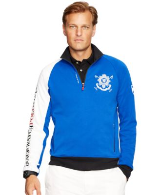 Polo Ralph Lauren Big \\\\u0026amp; Tall Black Watch Interlock Half-Zip Pullover