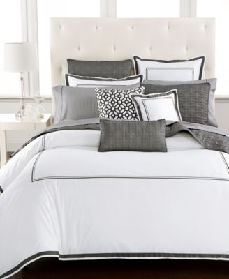 Embroidered Frame Quilted King Sham, Created for Macy's