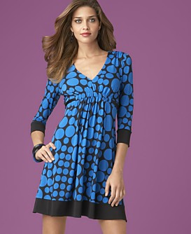 INC International Concepts® Woman Printed Empire-Tie Dress :  tie dress inc international concepts banded cuffs