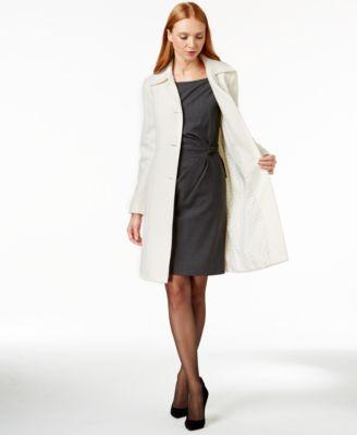 Anne Klein Wool-Cashmere Walker Coat - Coats - Women - Macy's