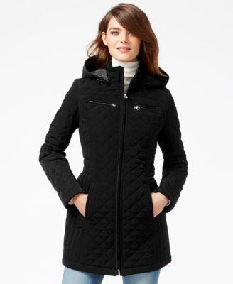 Kenneth Cole Petite Seamed Wool Babydoll Coat - Coats - Women - Macy's