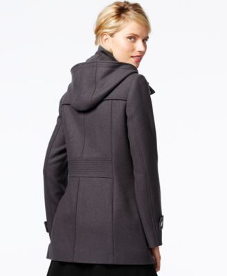 Kenneth Cole Petite Seamed Wool Babydoll Coat - Coats - Women - Macy's