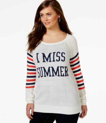 Rebellious One Plus Size Graphic Sweater - Sweaters - Plus Sizes ...