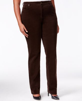 Charter Club Plus Size Straight-Leg Corduroy Pants - Pants ...
