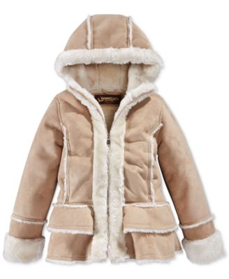 Hawke & Co. Little Girls' Shearling Jacket - Coats & Jackets ...