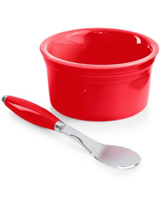 Fiesta 2-Piece Scarlet Dip Bowl and Spreader Set