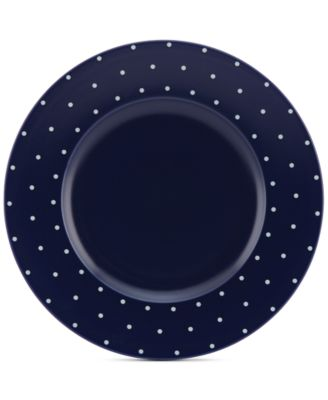 kate spade new york Larabee Dot Navy Collection Stoneware Dinner Plate