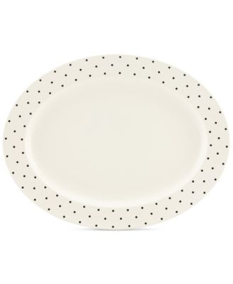 kate spade new york Larabee Dot Cream Collection Stoneware Serving Platter