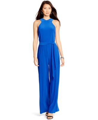 Lauren Ralph Lauren Stretch-Jersey Jumpsuit - Pants - Women - Macy's