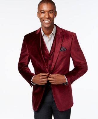 Tallia Big & Tall Velvet Blazer - Blazers & Sport Coats - Men - Macy's