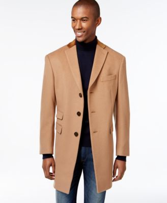 Tallia Big & Tall Double-Breasted Military-Style Peacoat - Coats ...