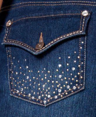 Style & Co. Plus Size Tummy-Control Rhinestone Back Pocket Bootcut ...